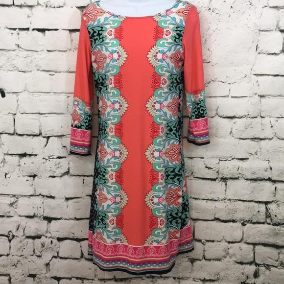 Haani Dresses & Skirts - Haani cute shift dress in bright colors